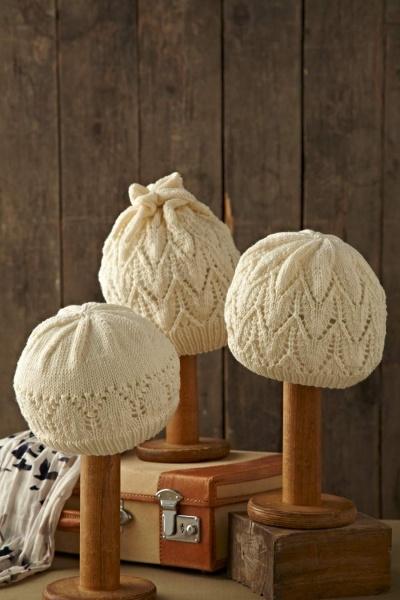 winter white hats.