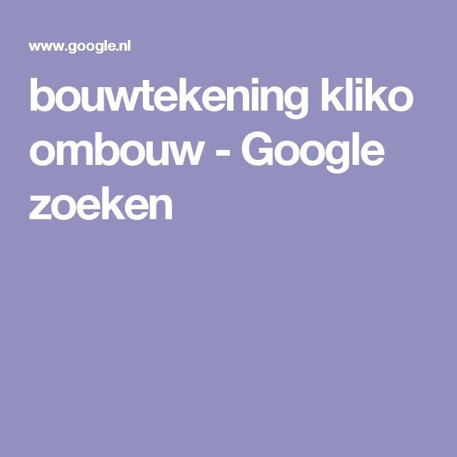 bouwtekening kliko ombouw - Google zoeken
