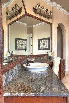 Mardi Gras AKA Fusion Granite Bathroom Counter Top Mediterranean
