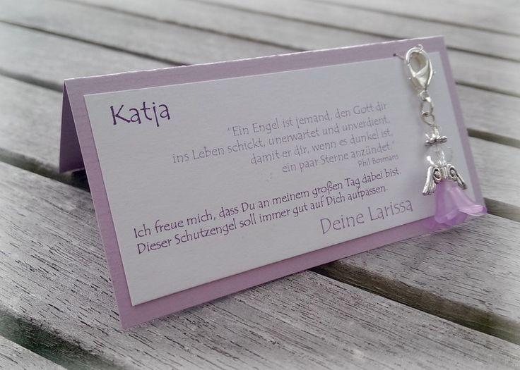 Gastgeschenk+Tischkarte+Schutzengel+Hochzeit+Taufe+von+CARD-YA+Kreatives+aus+Papier+auf+DaWanda.com