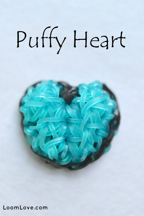 We love the Puffy Heart Charm by FeelinSpiffy. We think you will love this Rainbow Loom charm too!