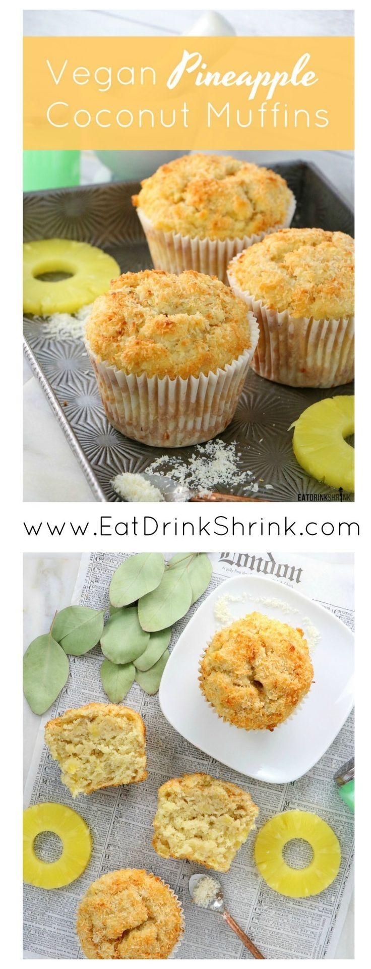 Vegane Ananas-Kokosnuss-Muffins