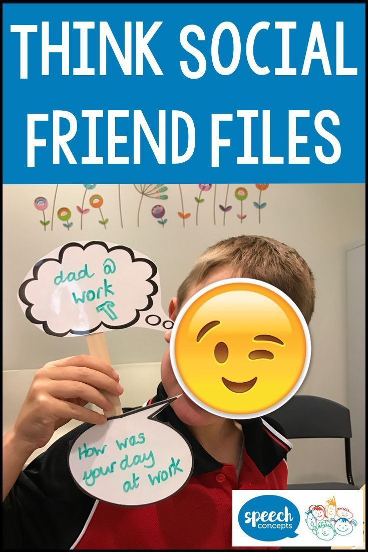 Let's think social - Friend Files - Speech Concepts.  Read the blog and see what we are doing in therapy.