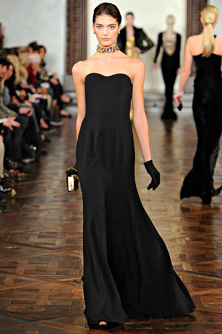 I need a nice black dress. maybe not this nice but still :) Ralph Lauren  Fall 2012 RTW