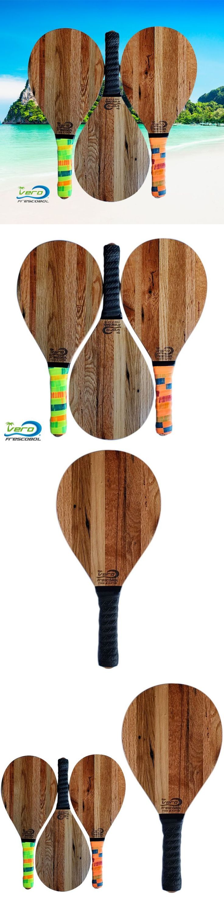 Other Tennis and Racquet Sports 159135: One Frescobol Paddle, Reclaimed Tobacco Barn Wood Racket, Black Grip -> BUY IT NOW ONLY: $59.9 on eBay!