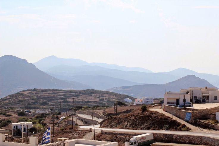 Amorgos, vue panoramique depuis la Chora