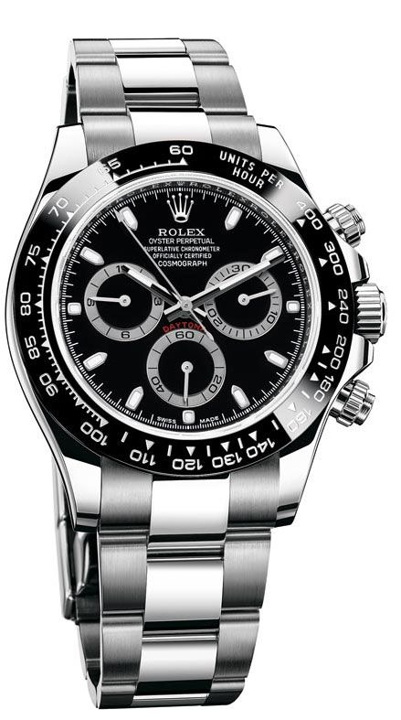 Rolex Cosmograph Daytona Black Dial Stainless Steel Oyster Men's Watch 116500BKSO