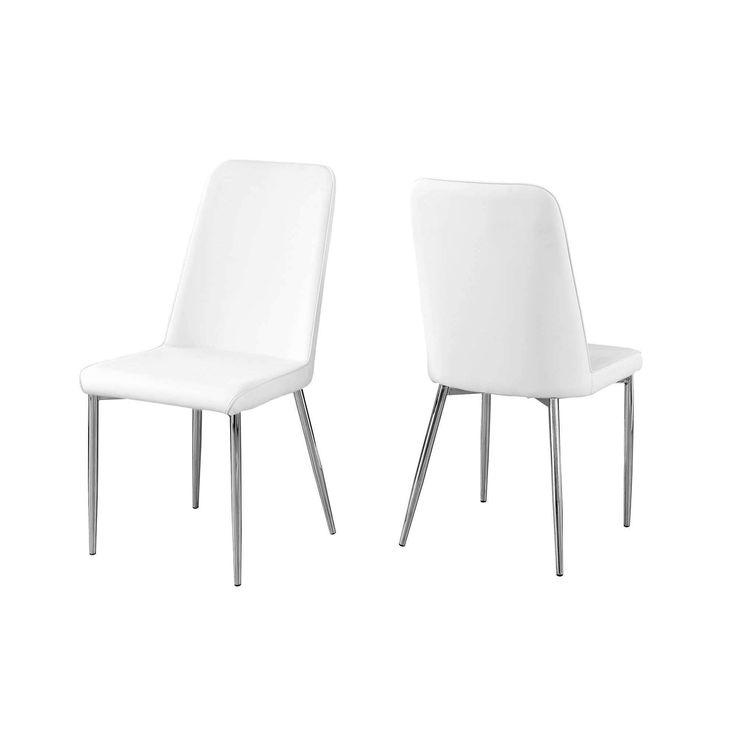 Die besten 25+ White leather dining chairs Ideen auf Pinterest - k chen mit theke
