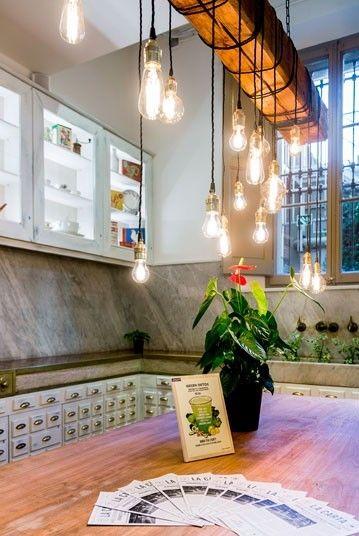 M s de 1000 ideas sobre l mparas r sticas en pinterest - Lamparas de techo hechas en casa ...
