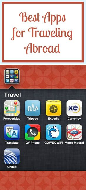Best Apps for Traveling Abroad. These really come in handy! #travel #apps