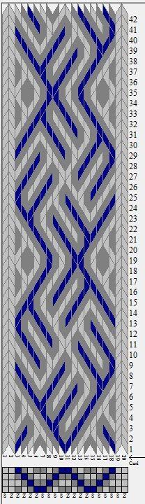 sed_694 otra opción . 20 tarjetas, 3 colores, repite cada 32 movimientos // diseñado en GTT༺❁
