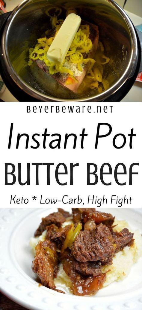 Dieses Instant Pot Butter Beef Rezept ist voller Geschmack, zart zu essen und perfekt …