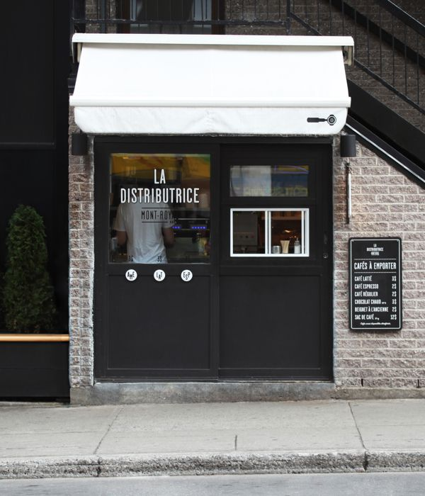 Smallest cafe place in North America, visual identity by Gabriel Lefebvre, via Behance