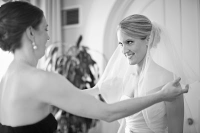 While Courtney's bridesmaids were helping her with the final details...