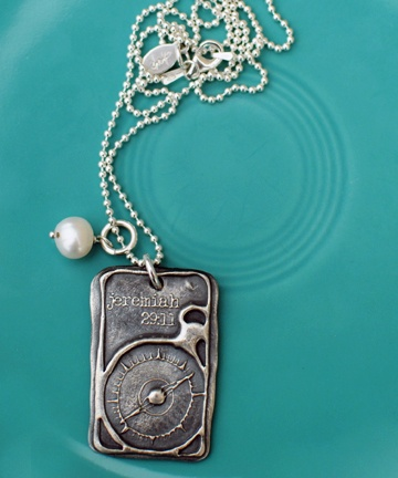 Jeremiah 29:11 necklace. Love.  a promise of guidance necklace from the vintage pearl