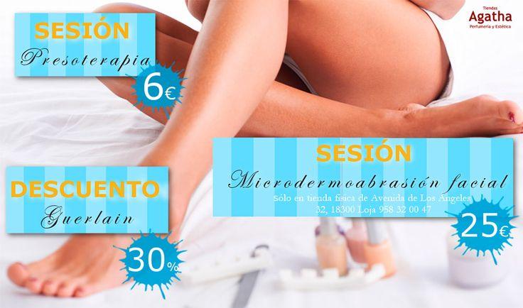Super descuentos en tratamientos de belleza para vosotras:  Sesión Presoterapia: 6€ Sesión Microdermoabrasión facial: 25€  En exclusiva en nuestro centro de belleza de Loja hasta el 15/06/2016.