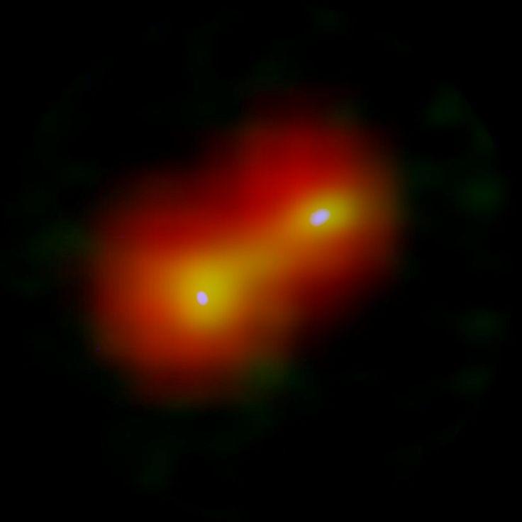 Usando o Atacama Large Millimeter / submillimeter Array (ALMA),pesquisadores encontraram estrelas gêmeas recém-nascidas de massa muito baixa com eixos de rotação desalinhados.Isso indica que eles foram formados em um par de nuvens de gás fragmentadas produzidas por turbulência