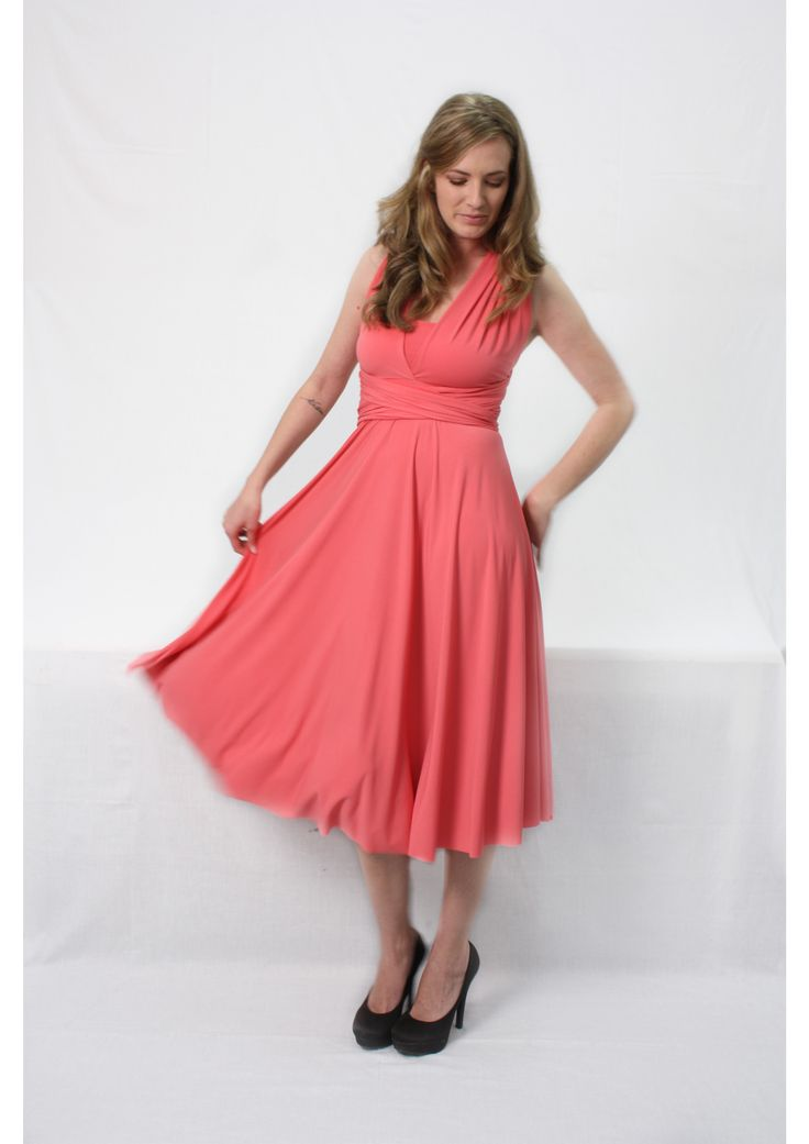 Cocktail length Infinity dress R699.00  http://infinity-dress.co.za/infinity-dress-south-africa/cocktail-infinity-dress