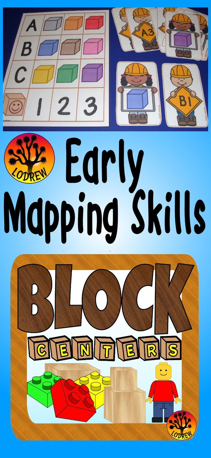 102 pages of block themed centers. Activities include literacy, math, beginning sounds, color words, graphing, mapping, counting, sorting, number sets, letter matching, fine motor, and more. For kindergarten, preschool, SPED, child care, homeschool, or any early childhood setting.