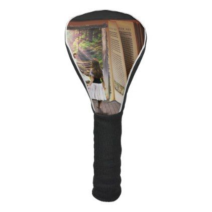 Getting Lost in imagination while reading book Golf Head Cover - antique gifts stylish cool diy custom
