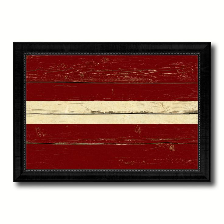 Latvia Country Flag Vintage Canvas Print with Black Picture Frame Home Decor Gifts Wall Art Decoration Artwork