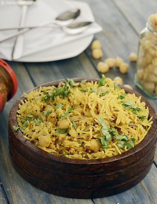 Achaari Chana Pulao recipe | Chana Pulao Recipes | by Tarla Dalal | Tarladalal.com | #30922