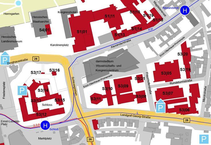 Lagepläne Standort Stadtmitte – Technische Universität Darmstadt