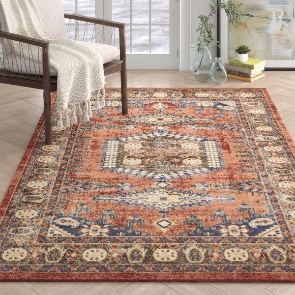 Nathanson Persian Inspired Cream Red Blue Area Rug Rugs Area