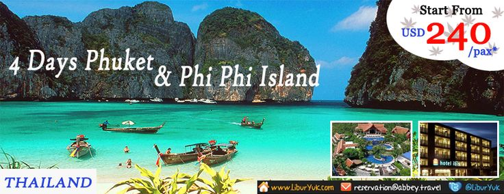 Penasaran dengan Phuket? Pulau yang pernah menjadi tempat syuting film James Bond (dan juga The Beach Leonardo Di Caprio).Kini kami sediakan paket 4 Hari Phuket James Bond & Phi Phi Island.Yuk jelajahi Phuket sekarang juga,dapatkan diskon paketnya!  Dapatkan Spesial Paket tersebut dari LiburYuk http://liburyuk.com/listpackage/4D+PHUKET+JAMES+BOND+ISLAND+%26+PHI+PHI  #LiburYuk #Thailand #Phuket #JamesBondIsland #PhiPhi #Beach #AbbeyTravel