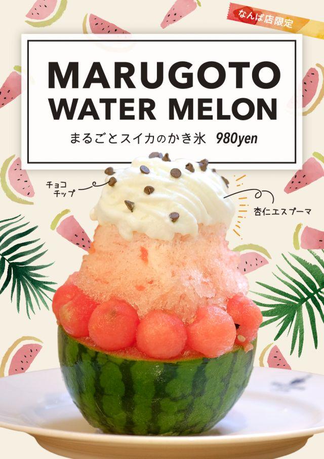 インパクト抜群!大阪ブラザーズカフェに「まるごとスイカのかき氷」が新登場 - macaroni