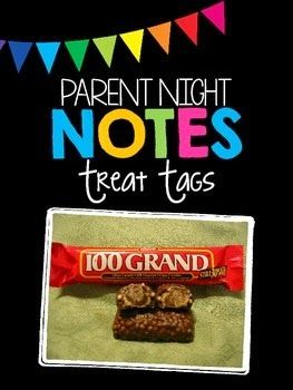An easy way to show appreciation to parents on Parent Night because who doesn't love a little chocolate?