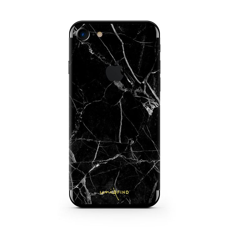 Black Hyper Marble iPhone Skin + Case