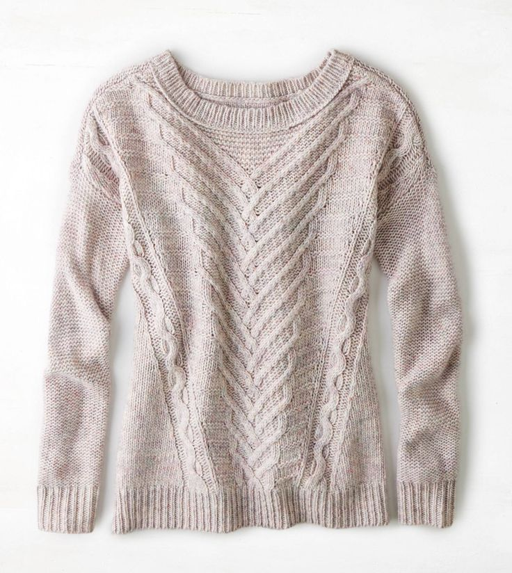 Pink AEO Soft Cable Sweater #top #sweater