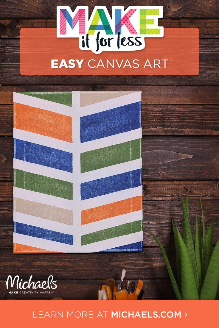 You can totally rock this how-to! Making this DIY chevron painted canvas is really easy and perfect for beginners. It also makes for a cute addition to a gallery wall!