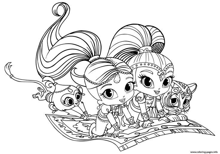 Print Shimmer and Shine Pets coloring pages | Omaľovánky | Pinterest ...