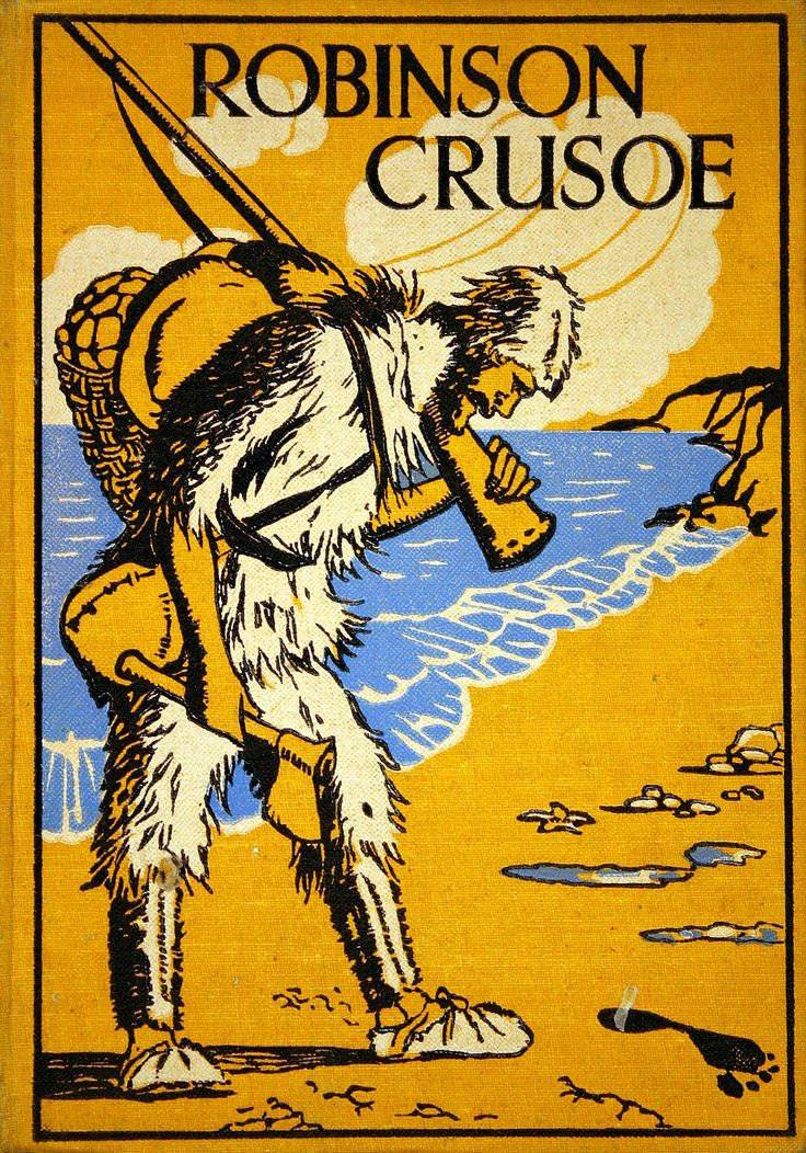 Crusoe,Robinson (Personaje de ficción). Robinson Crusoe / by Daniel Defoe ; with illustrations by Elenore Plaisted Abbott [192-?]