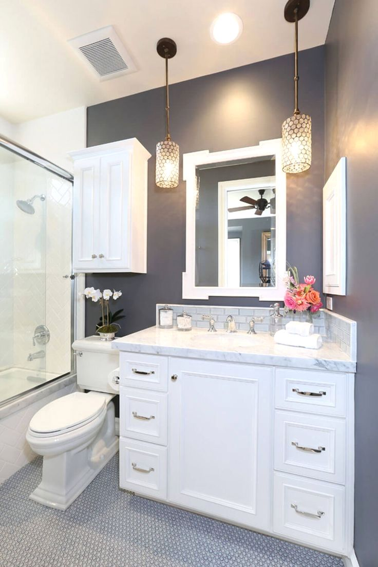 33 Shower Hacks To Make The Most Out Of Your Shower Small Bathroom Remodel Bathroom Remodel Master Beautiful Small Bathrooms Dark gray bathroom decor