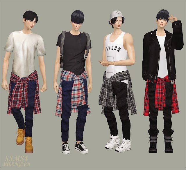 Sims 4 CC's - The Best: Shirt Jeans for Male by Marigold