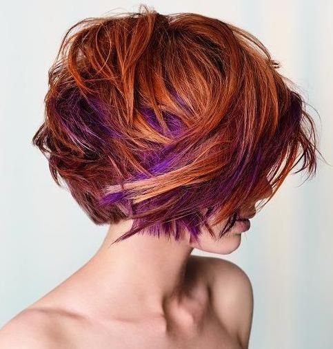 Red-Hair-With-Purple-Highlights I would love this if I were much younger!!!  It's great for an art teacher!