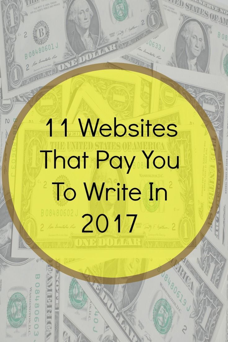 Make Money Writing From Home - 11 Websites That Pay You To Write In 2017