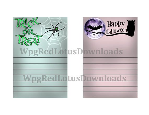 Halloween Journal Paper/ Note Cards  5 x 7 inches