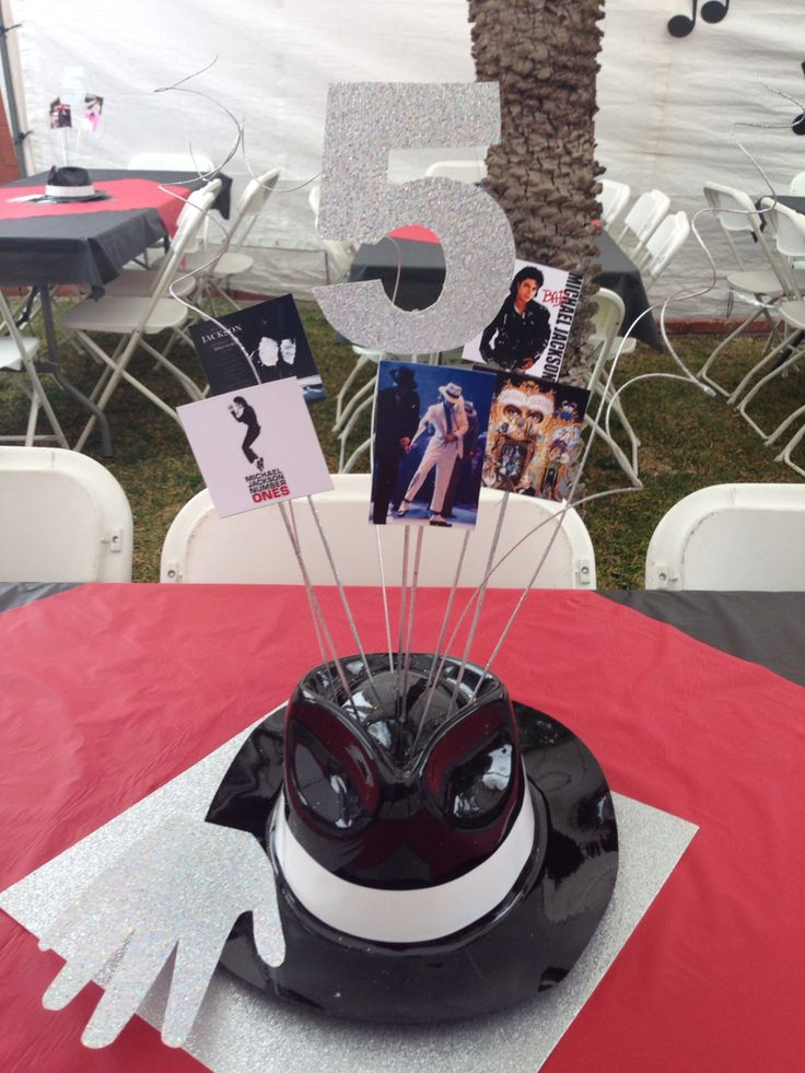 Michael Jackson Party Centerpieces
