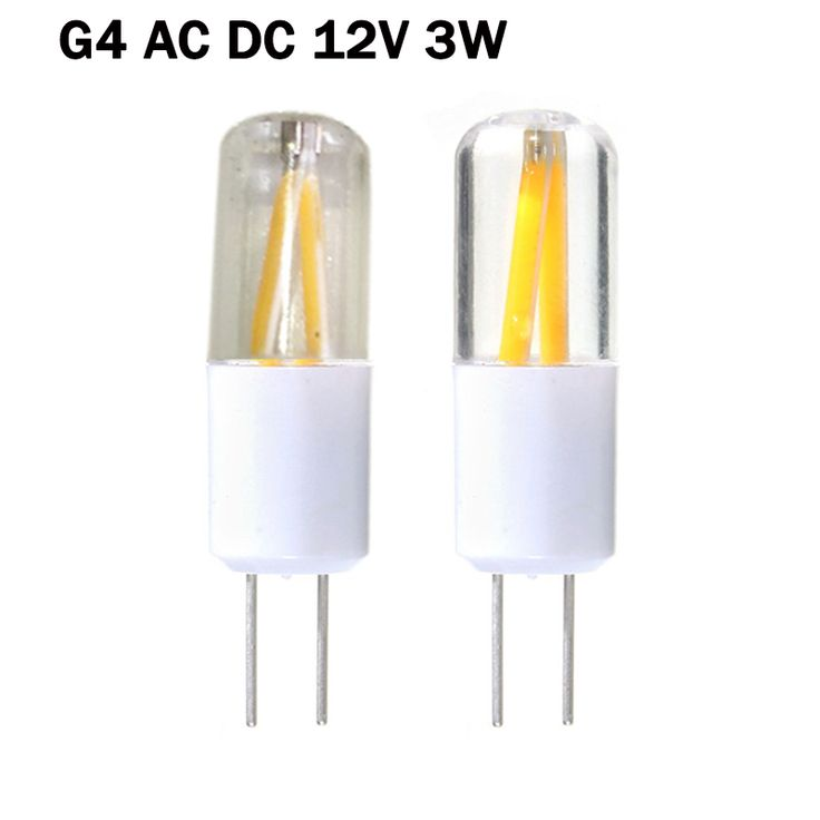 LED G4 12V 3W Filament COB Bulb Spotlight Light Bulb Equal 20W Incandescent AC DC 12V Lamp LED Bulb G4 Lights Lighting ZK35 #Affiliate