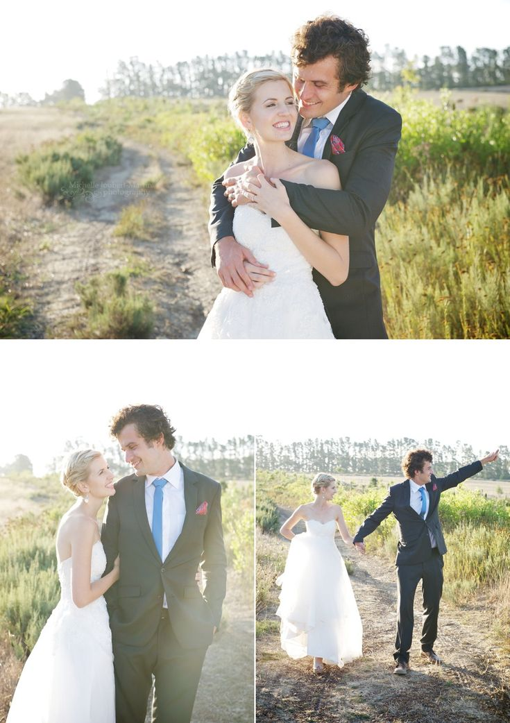 Bride and groom at their farm wedding in Elgin/Grabouw, image by Michelle Joubert-Martin Photography (Cape Town)