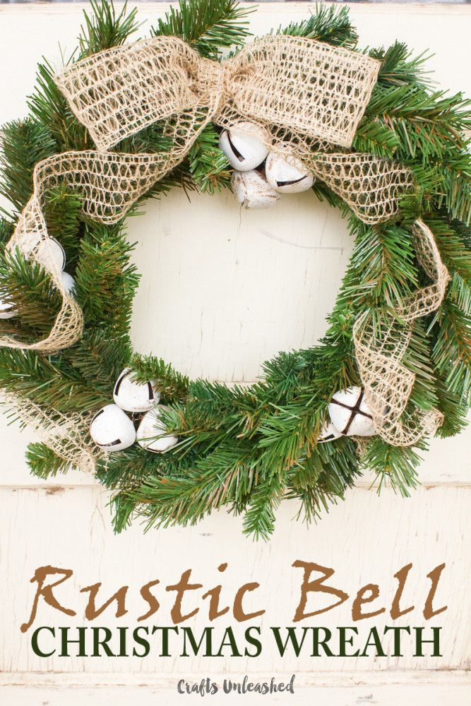 Rustic Christmas Craft Ideas Part - 39: DIY Christmas Wreath: Rustic Bells - Crafts Unleashed