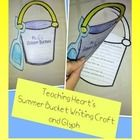 A free Summer Bucket Glyph and Writing  Activity that would make a fun End of The Year craft!    The Printables to make this are free. Just print all on card  stock. Student color based on questions and fill in the writting  activity. Display as a great last day of school bulletin board.  O, and if you download and enjoy this- please be kind and leave  positive feedback as payment! Thanks!