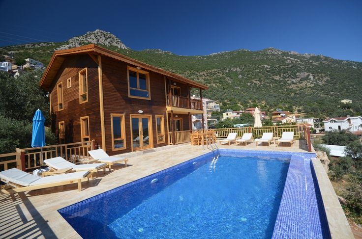 Villa Wooden House.Sevimli ahşap villa.8 Kişilk.Özel Yüzme Havuzlu. Wooden holiday rental villa.Sleeps 8. #kalkan #antalya From Home owners community of Kalkan