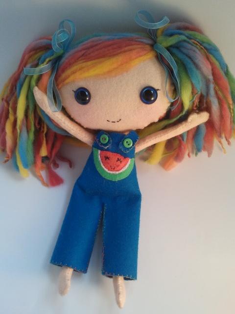 wool felt doll Sweet Melon-y;