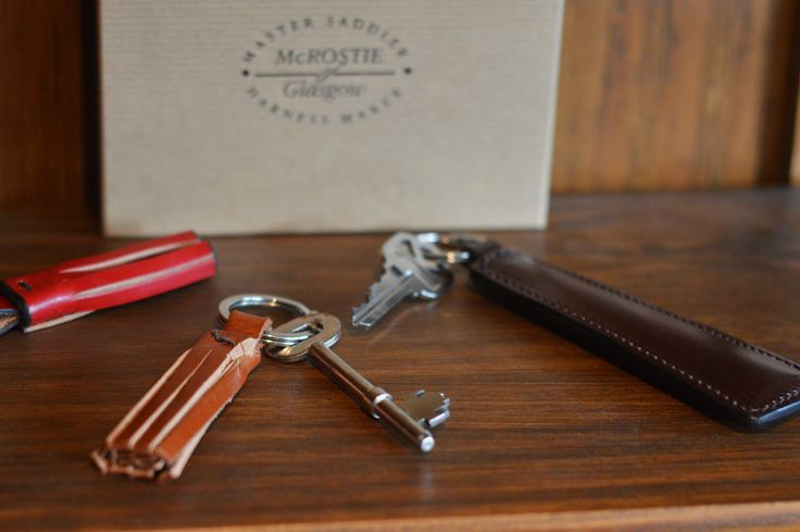 McRostie McLaird and McTassle key rings - hand crafted from 100% British bridle leather