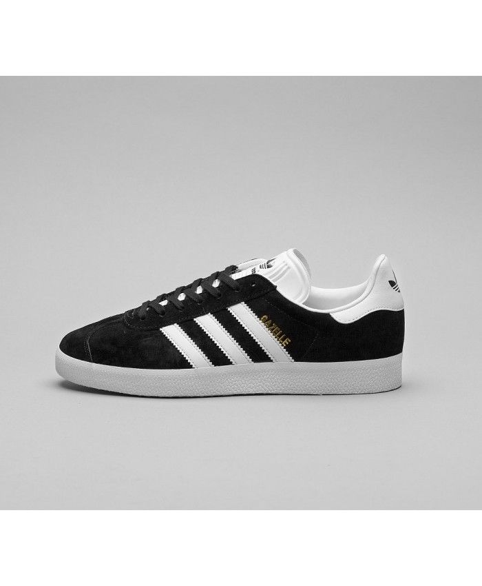 Adidas Gazelle Mens Trainers In Black White Gold  6d8126930